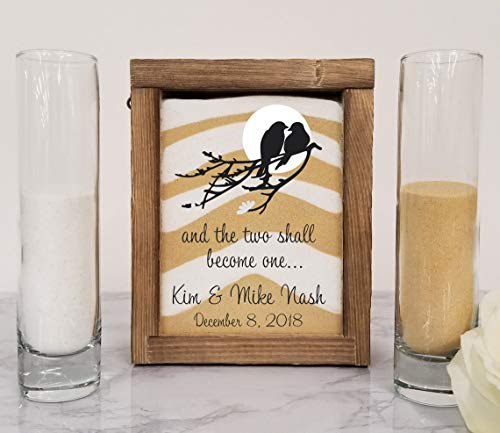 Unity Candle -Unity Candle Holder -Rustic Barnwood Unity Sand Shadow Box Set, Wedding Unity Candle for Barn, Beach, Rustic, Country, Outdoor or Traditional Wedding - Unity Hourglass Sand Ceremony Sets