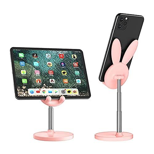 lefeindgdi Ears Cute Bunny Stand Phone Holder Einstellbare Handy Halter Ständer Handy Desktop Rack Zubehör