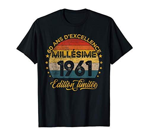 60 Ans Anniversaire Homme Millésime 1961 Fabriqué En 1961 T-Shirt
