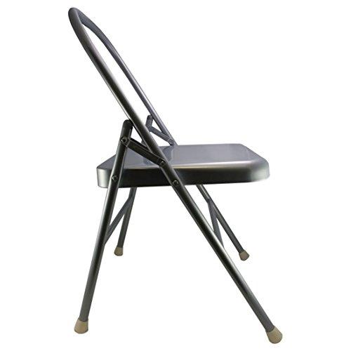 Yoga Mad verstärkter Yoga-Stuhl, klappbar, silberfarben