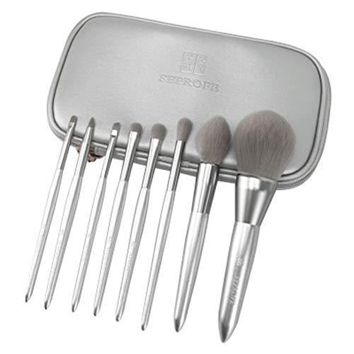 FASBHI Make-up-Pinsel-Set, 8 Moonlight Silber Make-up Pinsel für Foundation Blush Lidschatten Lip Concealer Make-up Pinsel Kosmetik Beauty-Tools