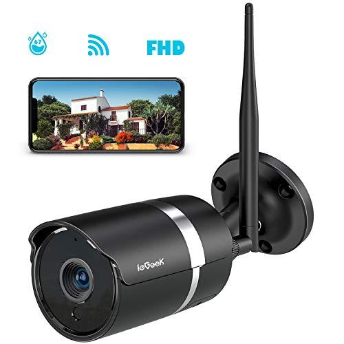 Caméra Surveillance WiFi Extérieur, ieGeek 1080P HD Caméra Sécurité avec Etanche IP67, WiFi Antenne...