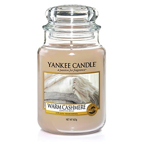 Yankee Candle große Duftkerze im Glas, Warm Cashmere, Brenndauer bis zu 150Stunden