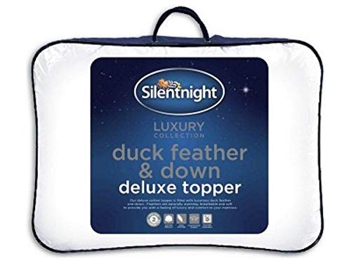 Silentnight Luxury Collection Duck Feather and Down Deluxe Mattress Topper - Mattress Protector - Bedding - King Size