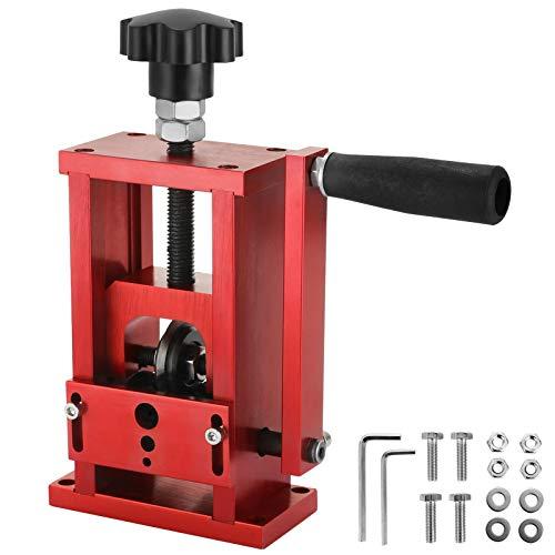 Máquina Pelacables de Cobre de 1,5-20 mm 1 Cuchilla, Pelacables Reciclaje de Metal Dimensión de 70 x 80 x 160 mm, Herramienta de Pelado de Cables Manual y Semiautomático para Garaje Rojo