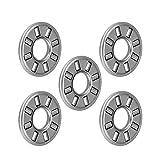 uxcell NTA411 Thrust Needle Roller Bearings 1/4' Bore 11/16' OD 5/64' Width 5pcs