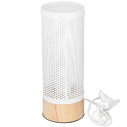 Grundig Lámpara de mesa con pantalla de metal E27, altura de 29,5 cm, lámpara decorativa