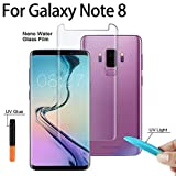 Raizada 3D UV Liquid Transparent Clear Samsung Note 9 Fingerprint Scanner Full Curved