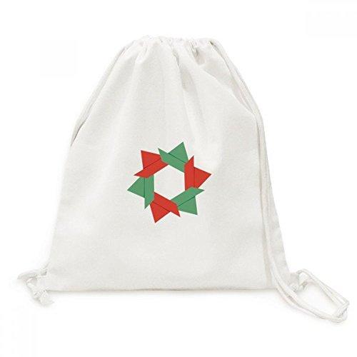 DIYthinker Resumen patrón de Navidad de la Flor de Origami de la Lona del morral del Lazo de Viaje Bolsas de la Compra