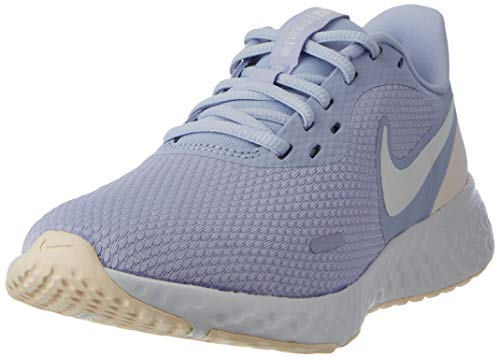 NIKE Revolution 5, Running Shoe Mujer, Ghost/Summit White-World Indigo, 38 EU