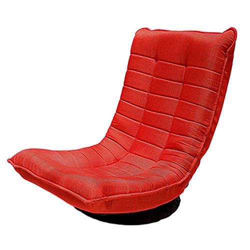 L-R-S-F Sofa Paresseux Unique Chaise Pivotante Balcon Salon Chambre À Coucher Mini-canapé (Couleur : Rouge)