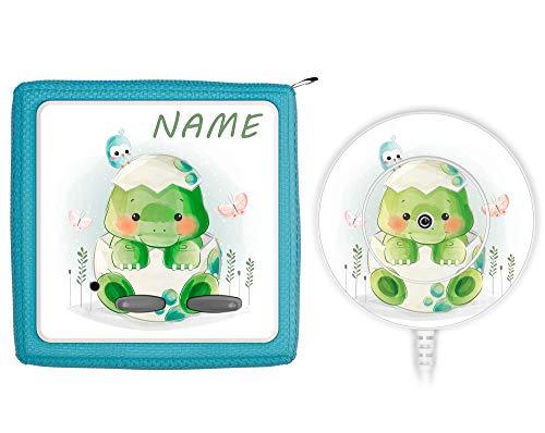 TheSmartGuard Schutzfolie passend für die Toniebox und Ladestation| Folie Sticker | Baby Schildkröte und Schmetterlinge mit Name personalisiert