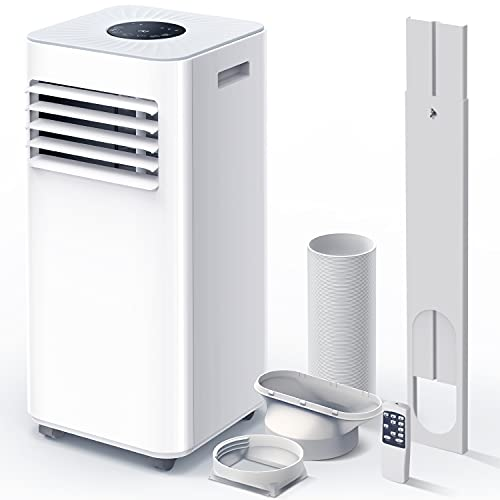 Portable Air Conditioner 9000 BTU 3-in-1 Air Conditioner, Dehumidifier, Cooling Fan with 2 Fan Speeds, Digital Display & Remote Control, and 24 Hour Timer for Rooms Up to 215ft