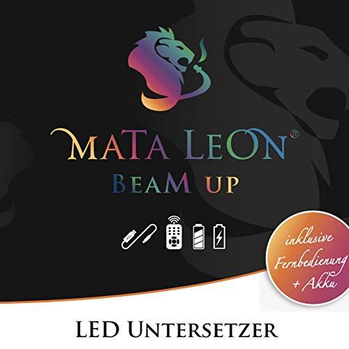 MATA LEON Shisha LED Untersetzer mit Fernbedienung und Akku | Farbverlauf Farbwechsler Effekt Licht für Wasserpfeife Hookah 15cm Durchmesser