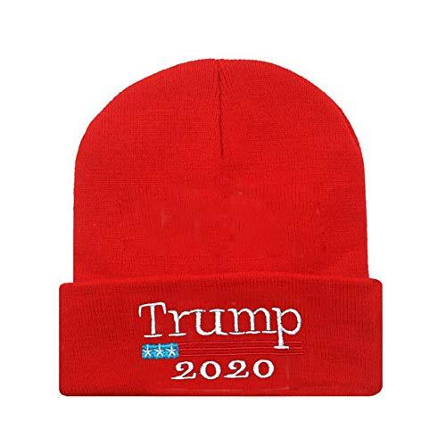 Aesy Bonnet de Ski Hiver Collection Trump - 2020 Donald Trump Garder l'Amérique Grande (Rouge)