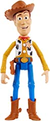 Talking Woody figure from Disney/Pixar Toy Story 4. Speaks 15+ movie phrases to bring character to life. Highly posable with iconic designs and a unique talking facial expression. Choose the full variety including Buzz, Woody, Jessie, Bo Peep, Forky ...