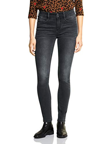 Street One Damen 372639 York Fit Slim Jeans, Grau (Grey Denim Authentic Washed 12065), W31/L30 (Herstellergröße:31)