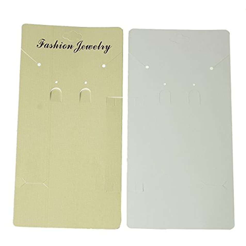 Paper Jewelry Display Card Rectangle Pale Yellow 19.5cm(7 5/8