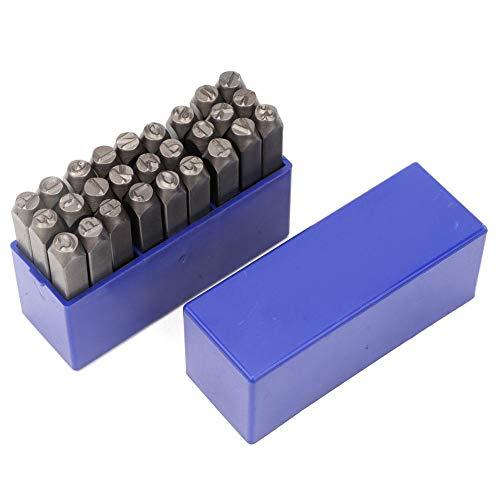 Lederen stempels Set met 3mm/6mm Metalen Alfabet of Nummer Stempel Kit Gereedschap Set met Doos voor DIY Leathercraft 6mm Letter Stamp