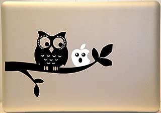 Vati hojas desprendibles Búho lindo en una rama de Arte Negro Piel del vinilo de la etiqueta engomada para Apple Macbook Pro Aire Mac de 13