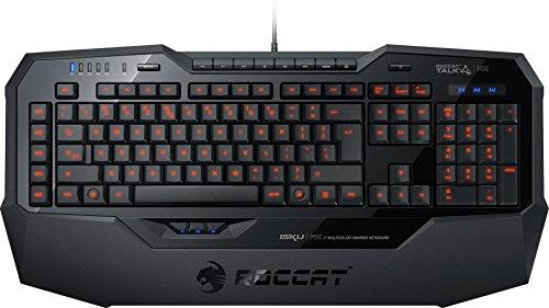 ROCCAT Isku FX Multicolor Gaming Tastatur (ES-Layout, Multicolor Tastenbeleuchtung, 36 Makrotasten inkl. 3 Thumbster-Tasten) schwarz