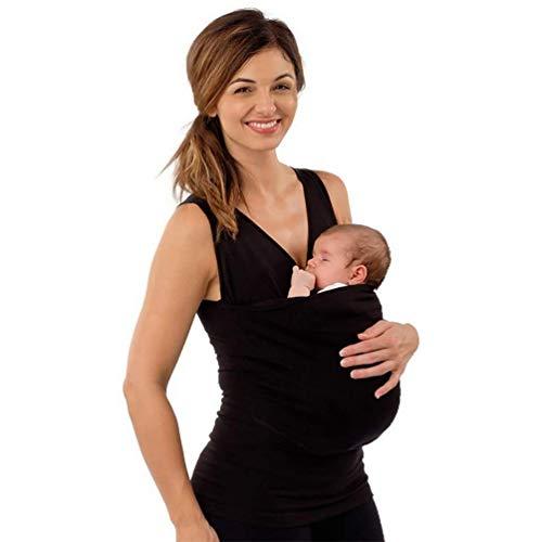 SHANGXIAN Känguru Mama T-Shirt Multifunktionsbluse Kleidung Säuglingspflege Baby schlafen Känguru-Vater Taschenoberteile,Mother~A,M