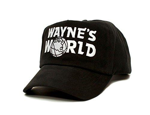 Wayne's World Custom Embroidered Movie Hat Adult Unisex Black Cap