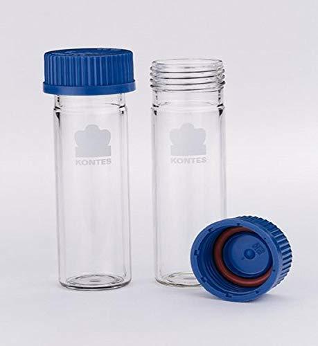 Kontes 736500-3515 Borosilicate Glass Hybridization Tube with Screw Cap for Hybridization Incubators, 35mm O.D, 150mm Length (Case of 2)
