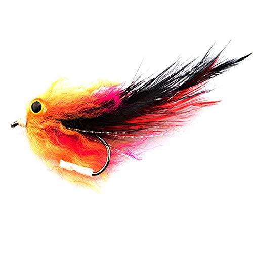 Gesh 1 stycken/påse ny öring regnbåge lax gädda streamer fly för flugfiske flugstorlek 4# krokar