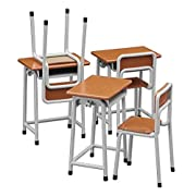 学校の「机と椅子」 (1/12スケール可動フィギュア用アクセサリー)