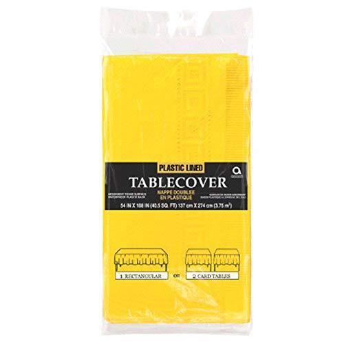 Amscan International Papiertischdecke Sunshine gelb