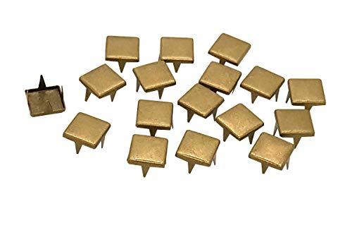 EIMASS London Based Company folienbeschichtete® Flat Top Square Tasche für Claw Nieten Beiwerk Kleidungsstücke Schuhe Gürtel Leder Basteln Braun braun