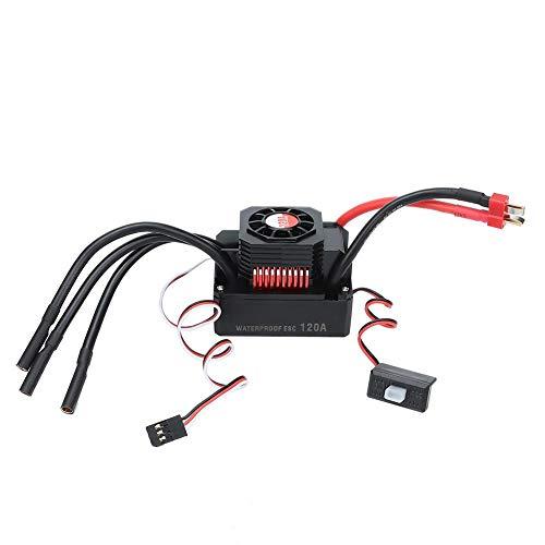 Dilwe RC Car ESC, Regolatore di velocità Elettronico Brushless 120A Impermeabile per Accessorio Auto 1/8 RC