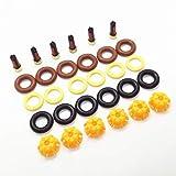 HXF Hxfang® 6SETS Kit de reparación de inyector de Combustible 0280150440 13641703819 FIT FOR para BMW E60 E39 520i 523i 525i 528i E36 328i E36 Reemplazo de automóvil AY-RK004