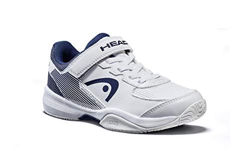 Head Sprint Velcro 3.0 Jnr, Zapatillas de Tenis Unisex Niños, Blanco (White/Midnight Navy Whmn), 35 EU