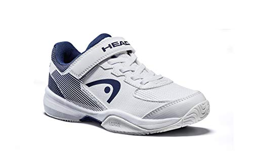 Head Sprint Velcro 3.0 Jnr, Zapatillas de Tenis Unisex Niños, Blanco (White/Midnight Navy Whmn), 35 EU
