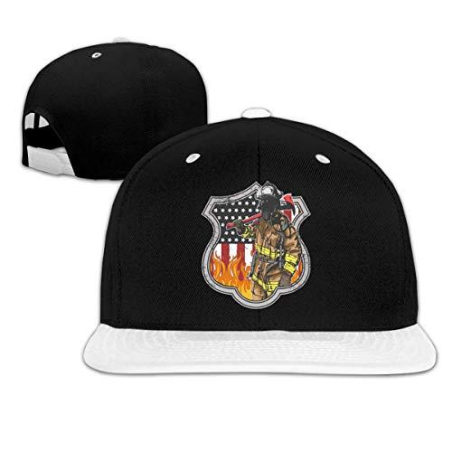 Lsjuee Gorra de bisbol de Hip Hop Unisex Popular de Bombero Americano