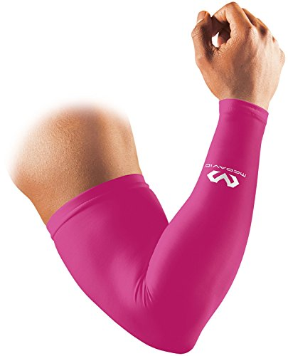 McDavid M656 Arm Sleeve, Arm Cover, Power Arm Sleeve, Compression, Sweat Absorbent, Quick Drying, Fatigue, UV Protection, 1 Piece Set, M, Pink, Sports, Daily Life, Basketball, Baseball, Running