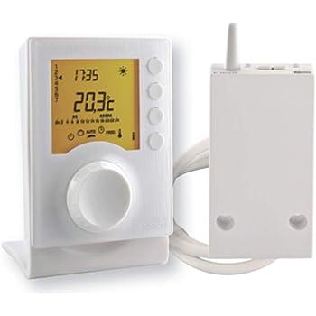 Delta Dore Thermostat programmable sans fil Tybox 137 pour chaudière et pompe à chaleur. Programmation – 6053007