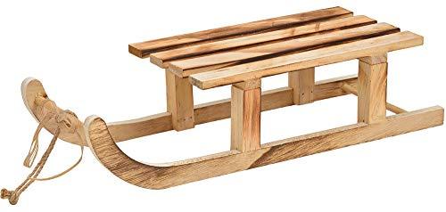 Matches21 - Trineo de madera para decoración navideña, decoración navideña, color marrón, 1 unidad, 42 cm