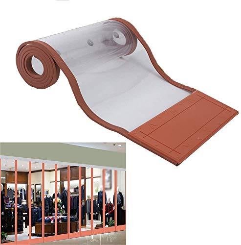 SLM-max Herbst und Winter Thick magnetischen Tür-Vorhang- / Schließautomatik/windundurchlässiges Shop-Gewerbe Partition Vorhang/PVC-Material/Keep Warm,50cm×220cm