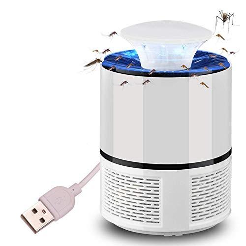 Galapara Anti Mosquito, Lámpara Led Atrapa Mosquitos USB Mata Mosquitos Electrico Luz Morada, fácil y eficaz para atraer Mosquitos