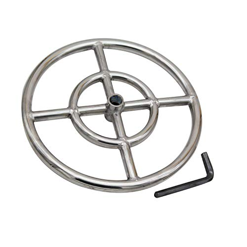 Earth Star 12 Inches 304 Stainless Steel Propane Fire Pit Ring Burner
