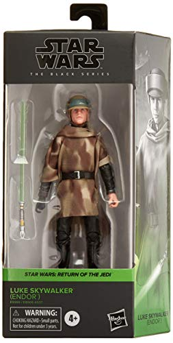STAR WARS The Black Series Luke Skywalker (Endor) Toy 6-Inch Scale Return of The Jedi Collectible Figure, Kids Ages 4 and Up