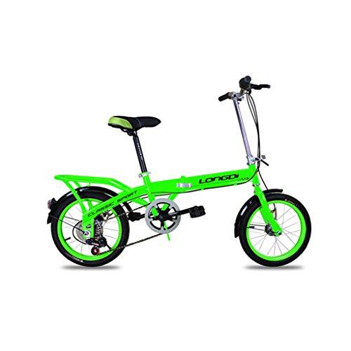 Niños chicos en bicicleta bicicleta, Bicicleta plegable for niños de 16 pulgadas...