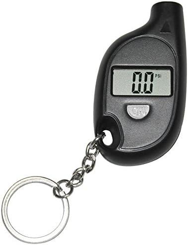 YESBAY Digital Tire Pressure Gauge Keychain LCD Digital Tire Meter Tyre Air Pressure Gauge for product image