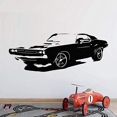 Coche Grande Dodge Challenger Dormitorio Pegatinas De Pared Arte Mural Decoración Para...