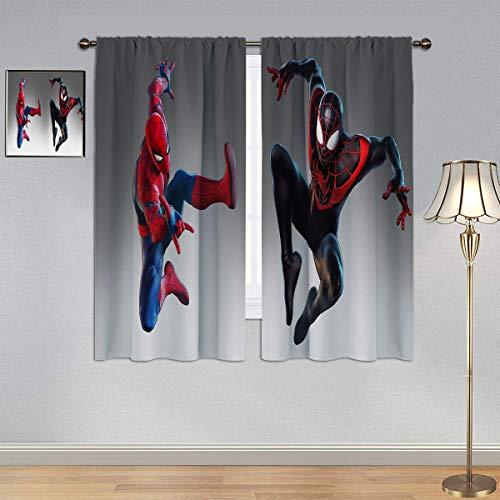 ARYAGO Black Out Cortinas Spiderman Cortinas, Hombre Araña Vengadores cortina cortina para ventana para dormitorio o sala de estar 150 x 182 cm