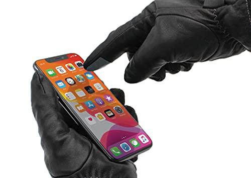 WANTALIS Unisex Digiskin Selbstklebend, um die Handschuhe zu berühren, Schwarz, One Size (10er Pack)