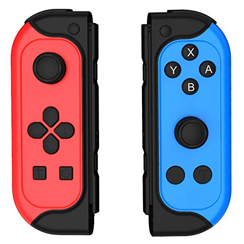 PUNWEOS Wireless Switch Controller for Nintendo Switch/Switch Lite,Joypad Controller with Turbo Button Ergonomic Hand Joypad Joystick Remote Replacement for Switch Joy-Con Controller-Red&Blue